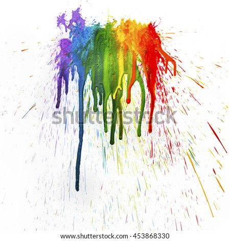 Rainbow Melted Coloring Crayons This Abstract Texture Stock ...