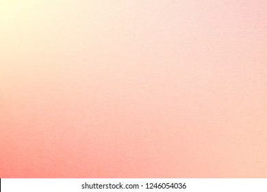 Rainbow pastel gradient background with watercolor paper texture, with Cream Yellow, Millenial Pink, Red, Apricot colors