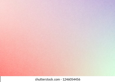Rainbow pastel gradient background with watercolor paper texture, with Millenial Pink, Purple, Red, Nyanza Green colors