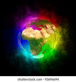 Rainbow planet Earth -  Europe