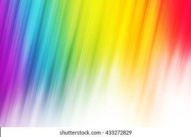 Rainbow pride light rays used to create abstract background
