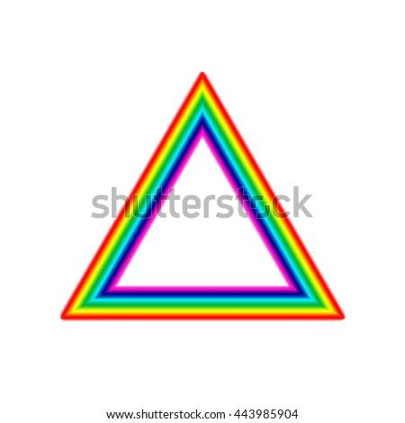 Rainbow Triangle Frame Stock Illustration - Royalty Free Stock ...