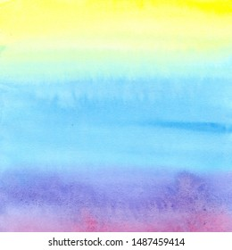 Rainbow watercolor gradient background, abstract bluish pattern