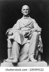Ralph Waldo Emerson (1803-82) depicted in a portrait sculpture (ca. 1905) by Frank Duveneck (1848-1919).