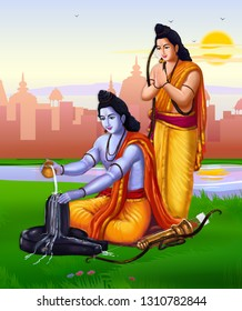Rama is the 7th avatar of Lord Vishnu. Adishesha, the serpent bed of Vishnu incarnated as his brother Lakshman. After the war, Rama along with Lakshman performed Shiva Pooja at Rameshwaram