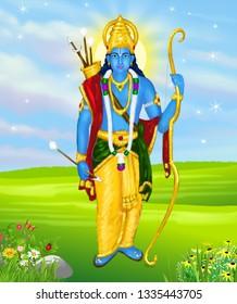 Rama was born to Kaushalya and Dasharatha in Ayodhya, the ruler of the Kingdom of Kosala.