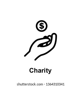 Ramadan charity outline icon. Element of Ramadan day illustration icon. Signs and symbols can be used for web, logo, mobile app, UI, UX on white background