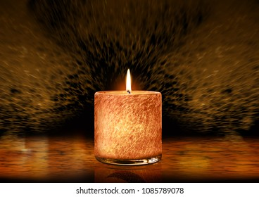 Ramadan Kareem Greeting Card with unique candle
