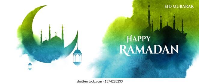 Ramadhan kareem Conceptual greeting design - Illustration