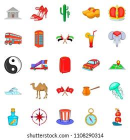 Ramble icons set. Cartoon set of 25 ramble icons for web isolated on white background