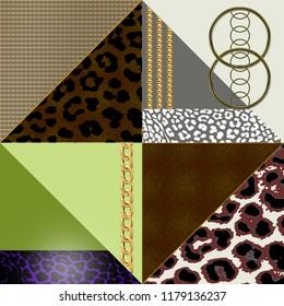 Random Chains with leopar Pattern