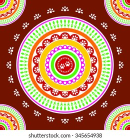 Rangoli Design Folk Art India Which Stock Illustration 706289353