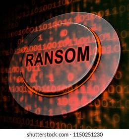 Ransom Computer Hacker Data Extortion 3d Rendering Shows Ransomware Used To Attack Computer Data And Blackmail