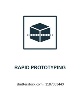 Rapid Prototyping icon. Monochrome style design from machine learning collection. UX and UI. Pixel perfect rapid prototyping icon. For web design, apps, software, printing usage.