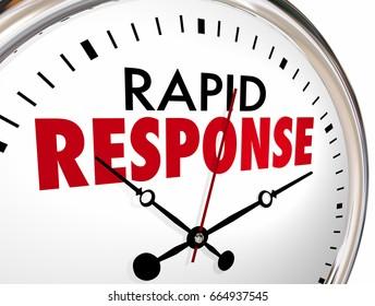 Rapid Response Clock Quick Fast Reaction 3d Illustration