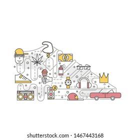 Ilustraciones, imágenes y vectores de stock sobre Rap Money