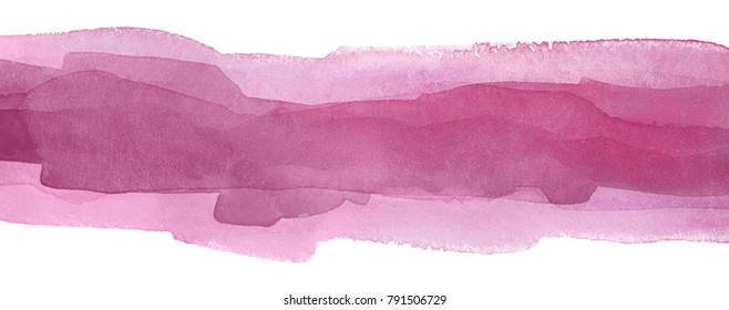 Raspberry pink watercolor stroke in the range of colors of Fandango to pink.