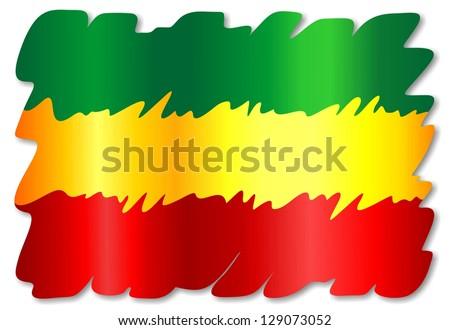 Rasta Colors Grunge Paint