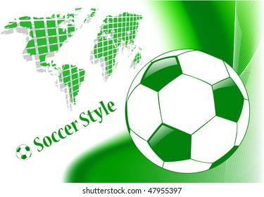 the raster abstract sport soccer background (vector version in portfolio)