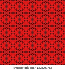 Raster bohemian seamless pattern. Inspired by acient tribal themes. Bohemian seamless pattern for use in web and digital design, craftworks and fashion products.