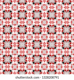 Raster bohemian seamless pattern. Inspired by traditional African themes. Bohemian seamless pattern for use in web and digital design, craftworks and fashion products.