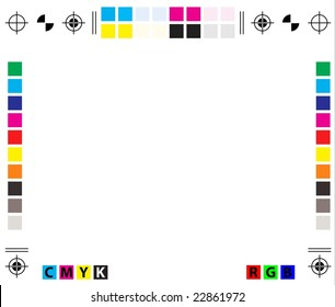 raster CMYK Press Marks - copy space included