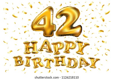 Happy 42nd Birthday Images Stock Photos Vectors Shutterstock