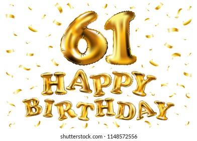Happy 61st Birthday Images Stock Photos Vectors Shutterstock