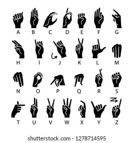 raster copy language of deaf-mutes hand. American Sign Language ASL Alphabet art