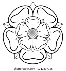 Raster East riding of Yorkshire heraldic rose