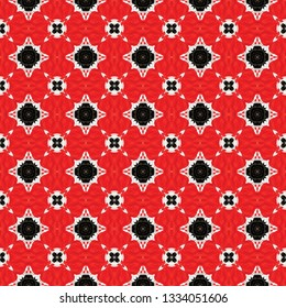 Raster ethnic seamless pattern. Inspired by acient tribal themes. Ethnic seamless pattern for use in web and digital design, craftworks and fashion products.