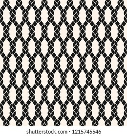 Raster fishnet seamless pattern. Black and white geometric nautical texture with mesh, net, weave, knitting, grid, lattice, fabric, ropes. Simple abstract monochrome background. Repeatable design