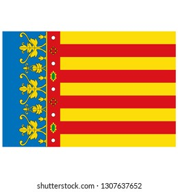 Raster Flag of Valencian Community - Autonomous Communities in Spain