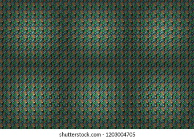 Raster floral pattern with abstract flowers. Grunge blue, green and black background. Textile print for bed linen, jacket, package design, fabric and fashion concepts. Abstract seamless design.