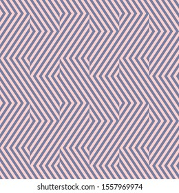 Raster geometric lines seamless pattern. Elegant texture with diagonal stripes, broken lines, chevron, zigzag. Simple abstract geometry. Modern pink and blue graphic background. Repeatable design