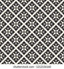 Raster geometric ornament. Damask seamless pattern. Ornamental texture in traditional Arabian style. Abstract monochrome background with flower shapes, stars. Elegant black and white repeat design