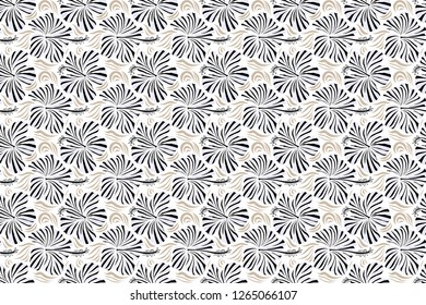 Raster of Hawaiian Aloha Shirt design in beige and gray colors on a white background.