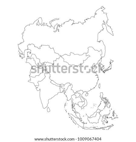Royalty Free Stock Illustration of Raster Illustration Asia Outline ...
