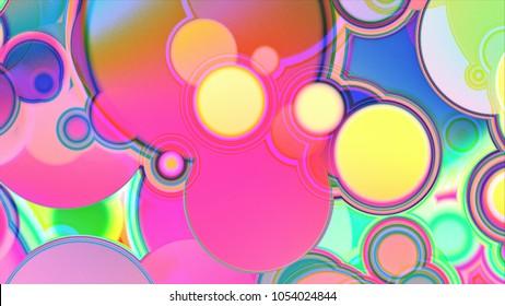 Raster illustration. Cool  fantasy sweet world background. Candyland landscape illustration.  Background design for banner, poster, flyer, card, postcard, cover, brochure.
