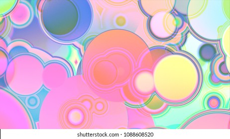 Raster illustration. Cool  fantasy sweet world background. Candyland landscape illustration.  Background design for banner, poster, flyer, card, postcard, cover, brochure.