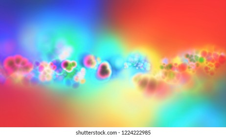 Raster illustration. Cool  fantasy sweet world background. Candyland landscape illustration.  Background design for banner, poster, flyer, card, postcard, cover, brochure. 3d render