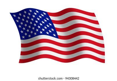 Raster illustration of the USA flag