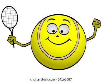 Raster Image Vector Tennis Ball Stock Illustration Royalty Free
