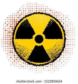 Raster Ionizing Radiation Sign. Radioactive Contamination Symbol. Warning Danger Hazard.