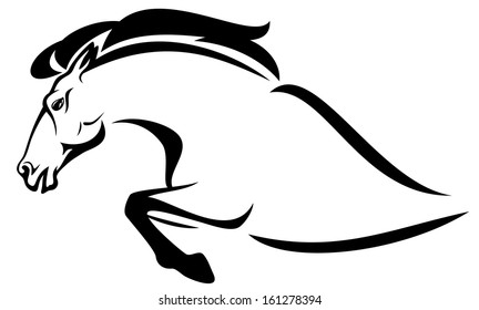 Jumping Horses Abstract Stock Illustrations Images Vectors