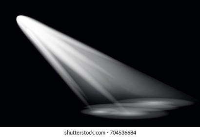 Raster Light Effect Spotlight with Transparent Background