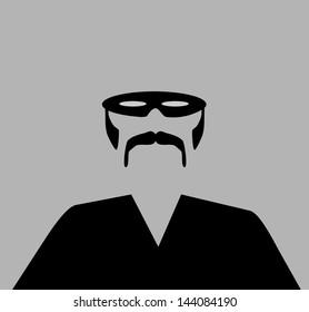 raster man wearing black mask