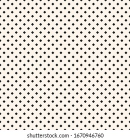 Raster minimalist floral geometric seamless pattern. Simple black and white texture with small crosses, squares, dots, tiny flower silhouettes. Monochrome pixel art background. Minimal repeat design