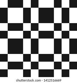 cfc79fcaf Raster monochrome checkered geometric seamless pattern with squares, repeat  tiles. Abstract black and white
