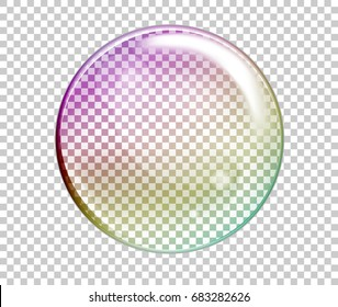 Raster Rainbow Water Bubbles. Transparent Isolated Realistic Design Elements. Can be used with any Background.